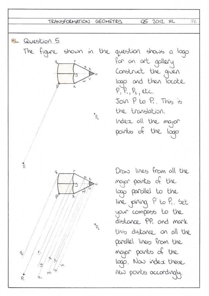 TRANSFORMATION GEOMETRY Q5 2012 HL PG1 CLN